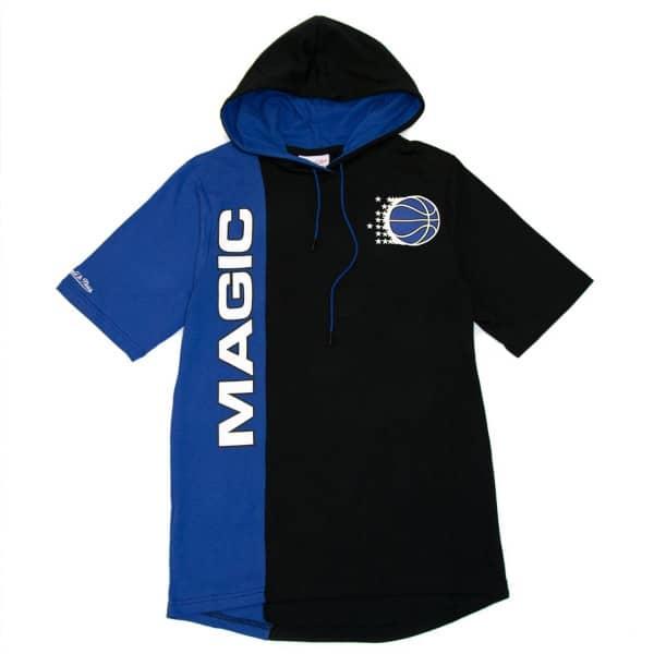 Orlando Magic Split Mitchell & Ness Short Sleeve NBA Hoodie