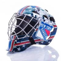 New York Rangers NHL Mini Goalie Mask
