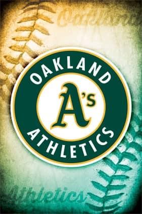 Oakland Athletics Team Logo Baseball MLB Poster RP13253