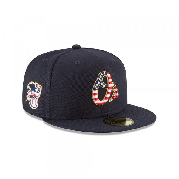 Baltimore Orioles 4th of July 2018 59FIFTY Fitted MLB Cap