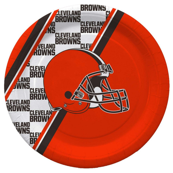 Cleveland Browns Partyware NFL Pappteller Set (20 Stk.)