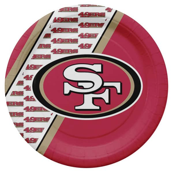 San Francisco 49ers Partyware NFL Pappteller Set (20 Stk.)
