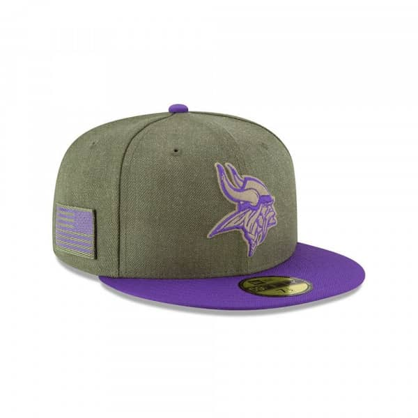 New Era Minnesota Vikings 2018 Salute to Service 59FIFTY NFL Cap ... c31a9debbeb