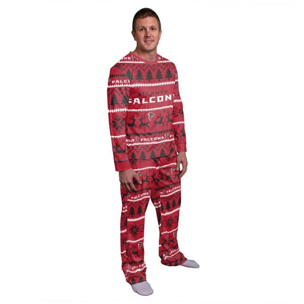 Atlanta Falcons Holiday Wordmark NFL Schlafanzug Set (2-Teilig)