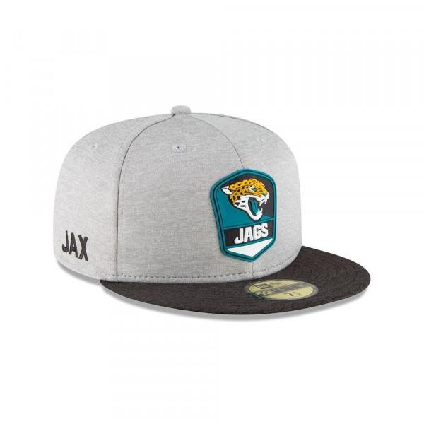 Jacksonville Jaguars 2018 NFL Sideline 59FIFTY Fitted Cap Road