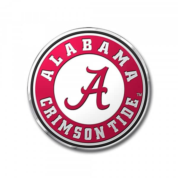 Alabama Crimson Tide Aluminium Color NCAA Team Emblem