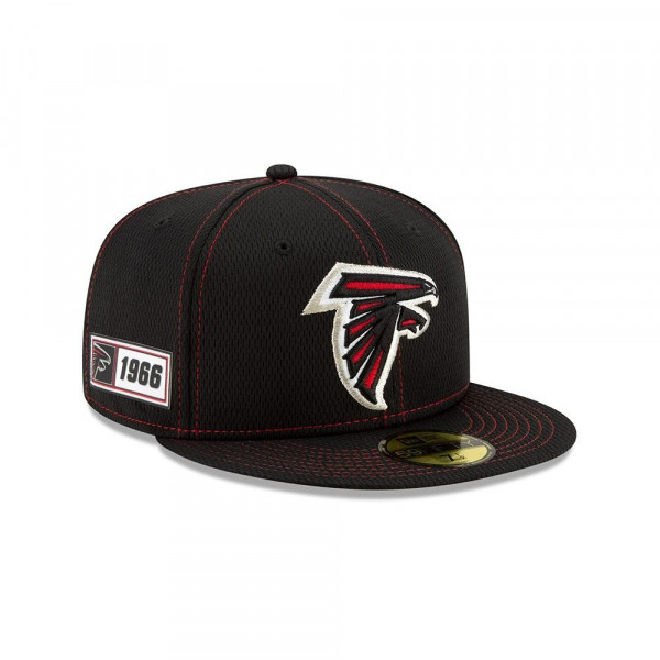 Atlanta Falcons 2019 NFL On-Field Sideline 59FIFTY Fitted Cap Road