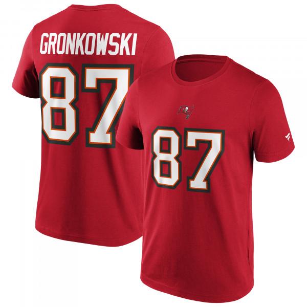 Rob Gronkowski #87 Tampa Bay Buccaneers Fanatics Player NFL T-Shirt Rot