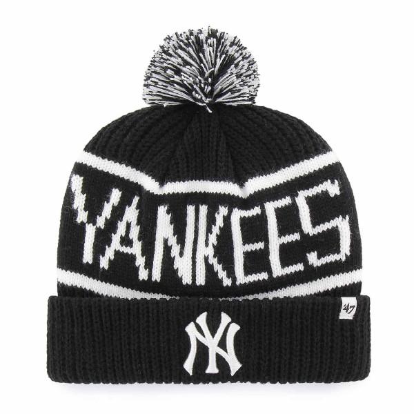 New York Yankees Wraparound MLB Pudelmütze Schwarz