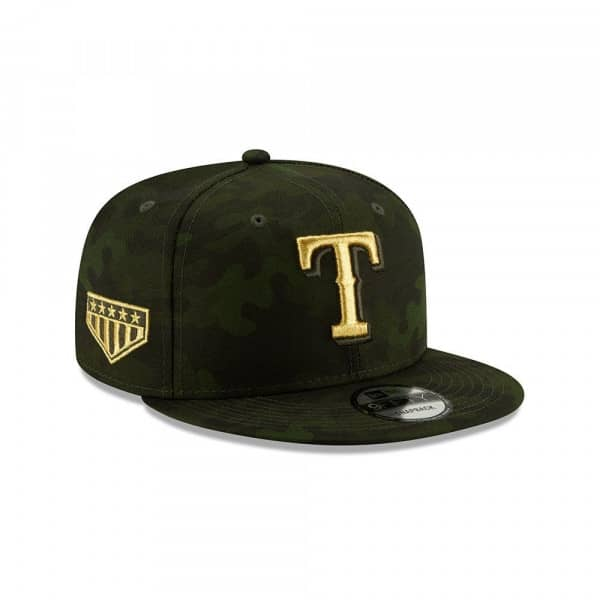 sale retailer 5da75 1b1da New Era Texas Rangers 2019 Armed Forces Day 9FIFTY Snapback MLB Cap   TAASS.com  Fan Shop