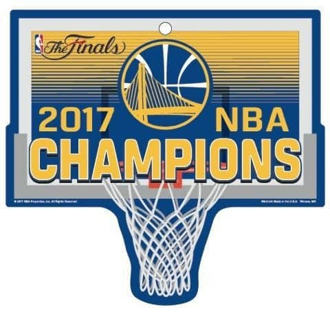 Golden State Warriors 2017 NBA Champs Basketballkorb Schild