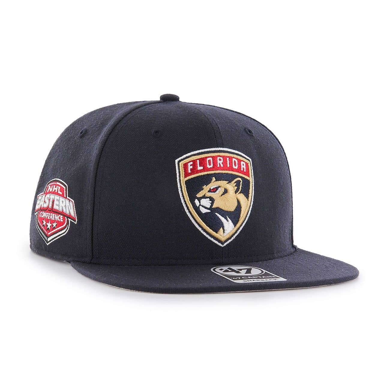 02f63e717a3  47 Brand Florida Panthers Sure Shot Snapback NHL Cap Navy