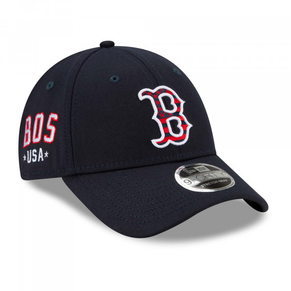 Boston Red Sox 2021 MLB 4th of July New Era Stretch-Snap 9FORTY Cap