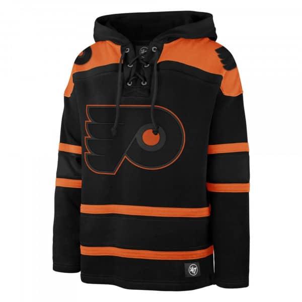Philadelphia Flyers Black '47 Superior Lacer Jersey Hoodie NHL Sweatshirt
