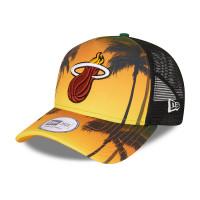 Miami Heat Summer City New Era Adjustable NBA Trucker Cap