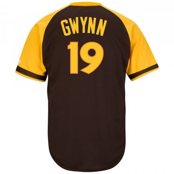 Tony Gwynn #19 San Diego Padres Cool Base MLB Trikot Road Braun