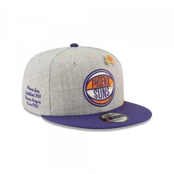 Phoenix Suns 2019 NBA Draft 9FIFTY Snapback Cap Heather Grey