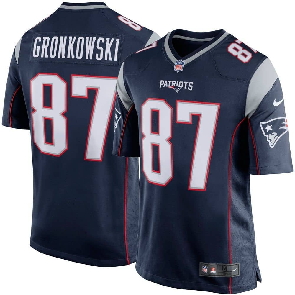 sports shoes 4f26e 4f50b Rob Gronkowski #87 New England Patriots Game Football NFL Jersey Navy
