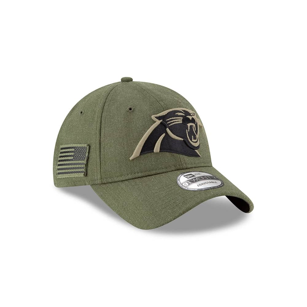 40c73b8c6c4eee New Era Carolina Panthers 2018 Salute to Service 9TWENTY NFL Cap | TAASS.com
