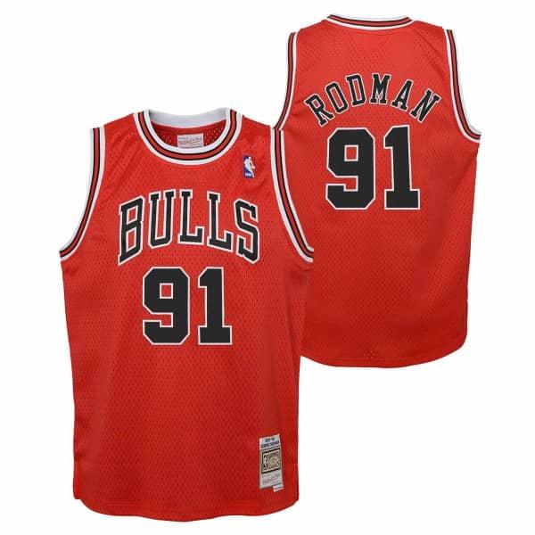 Dennis Rodman #91 Chicago Bulls 1997-98 Youth Swingman NBA Trikot (KINDER)