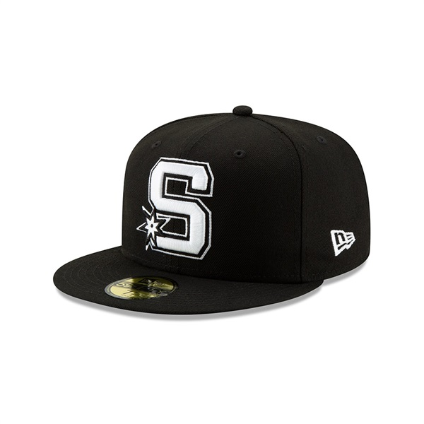 San Antonio Spurs 2019 NBA Back Half 59FIFTY Fitted Cap