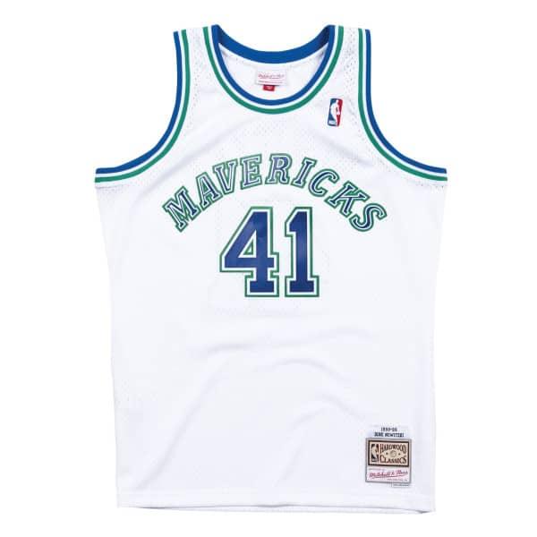 Dirk Nowitzki #41 Dallas Mavericks 1998-99 Mitchell & Ness Swingman NBA Trikot Weiß