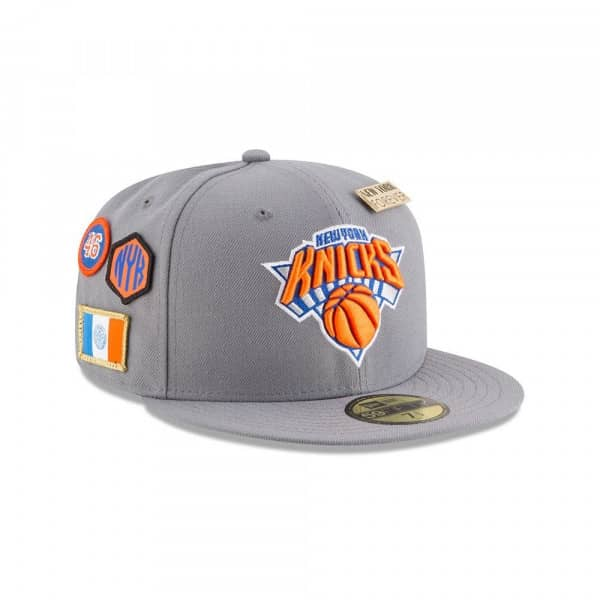 New York Knicks 2018 NBA Draft 59FIFTY Fitted Cap Storm Grey