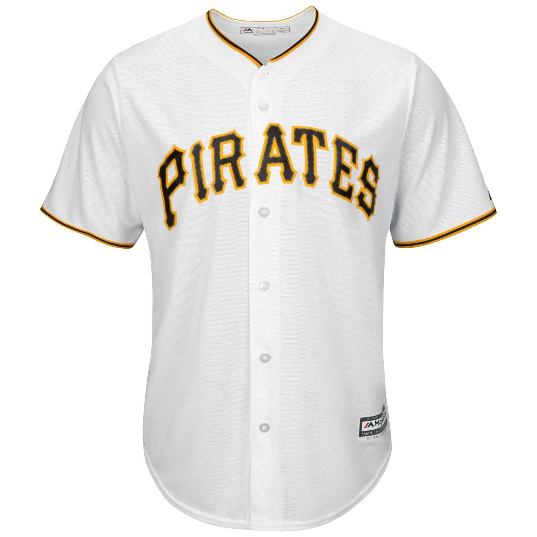 buy online 5ca7a b3e80 Majestic Pittsburgh Pirates Cool Base MLB Jersey Home White   TAASS.com