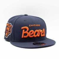 Chicago Bears Script New Era 9FIFTY NFL Snapback Cap Navy