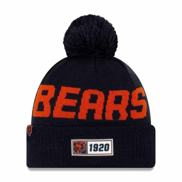 Chicago Bears Throwback 2019 NFL Sideline Sport Knit Wintermütze Road