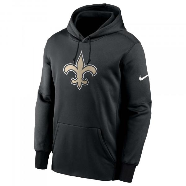 New Orleans Saints Prime Logo Nike Therma NFL Hoodie Schwarz