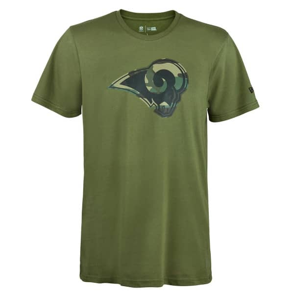 Los Angeles Rams 2019 Camo Logo NFL T-Shirt