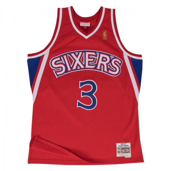 1639ca478a15 Mitchell   Ness Allen Iverson  3 Philadelphia 76ers 1996-97 Swingman ...