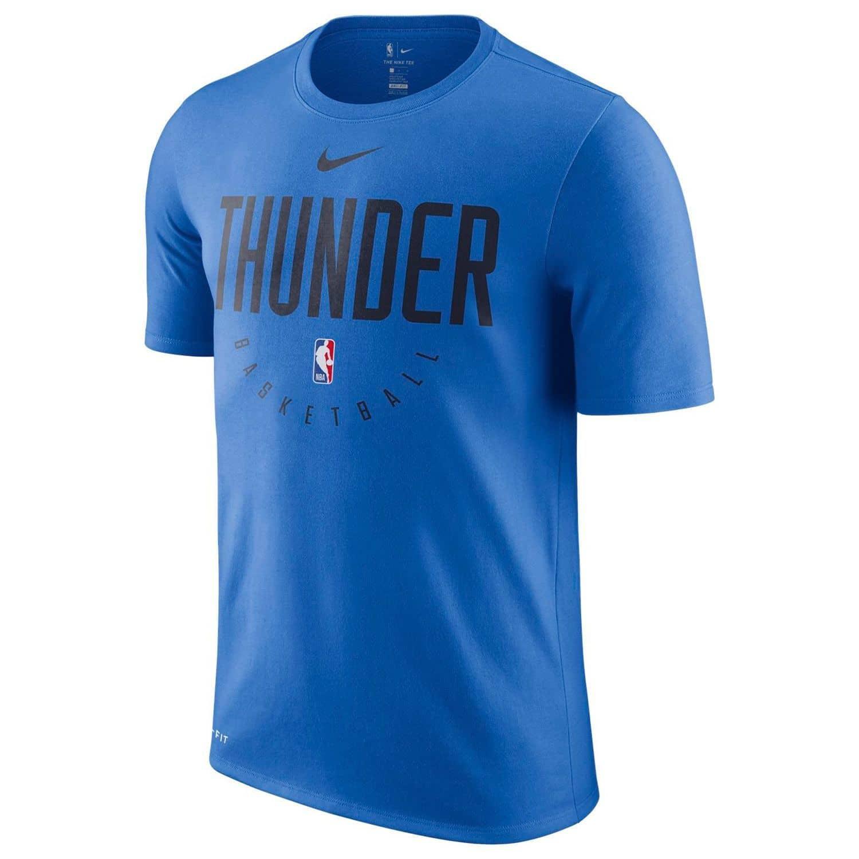 huge selection of 0464a 98042 Nike Oklahoma City Thunder Practice Performance NBA T-Shirt Blau    TAASS.com Fanshop