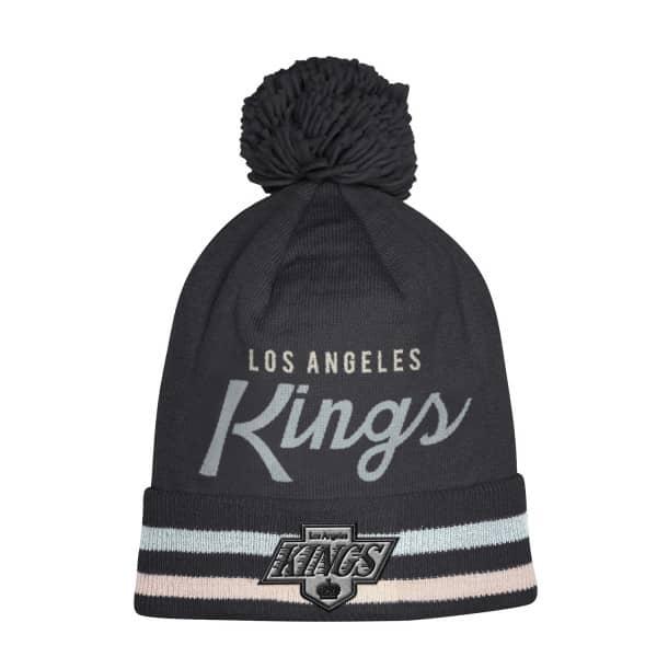 online retailer 84dd4 2d67f adidas Los Angeles Kings Cuffed Beanie Pom NHL Knit Hat   TAASS.com Fan Shop