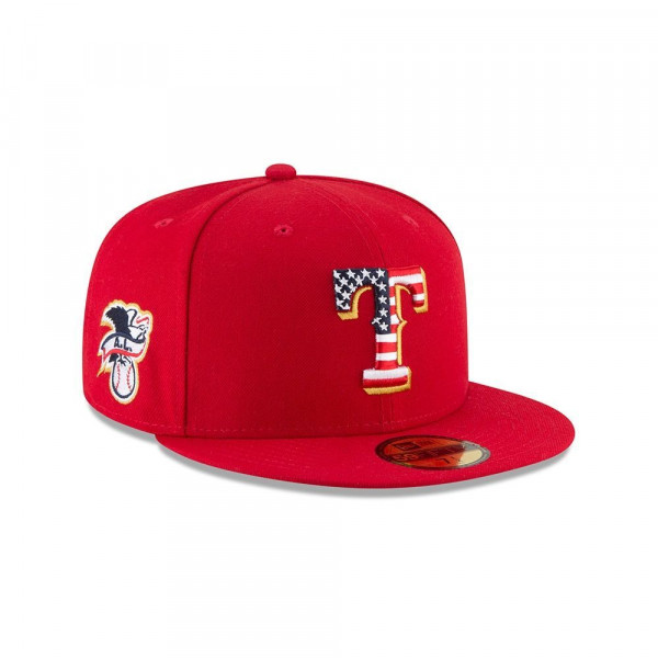 Texas Rangers 4th of July 2018 59FIFTY Fitted MLB Cap