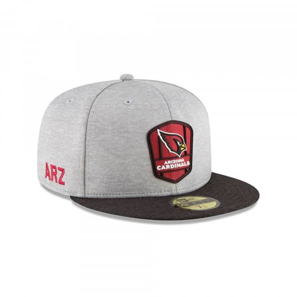 Arizona Cardinals 2018 NFL Sideline 59FIFTY Fitted Cap Road