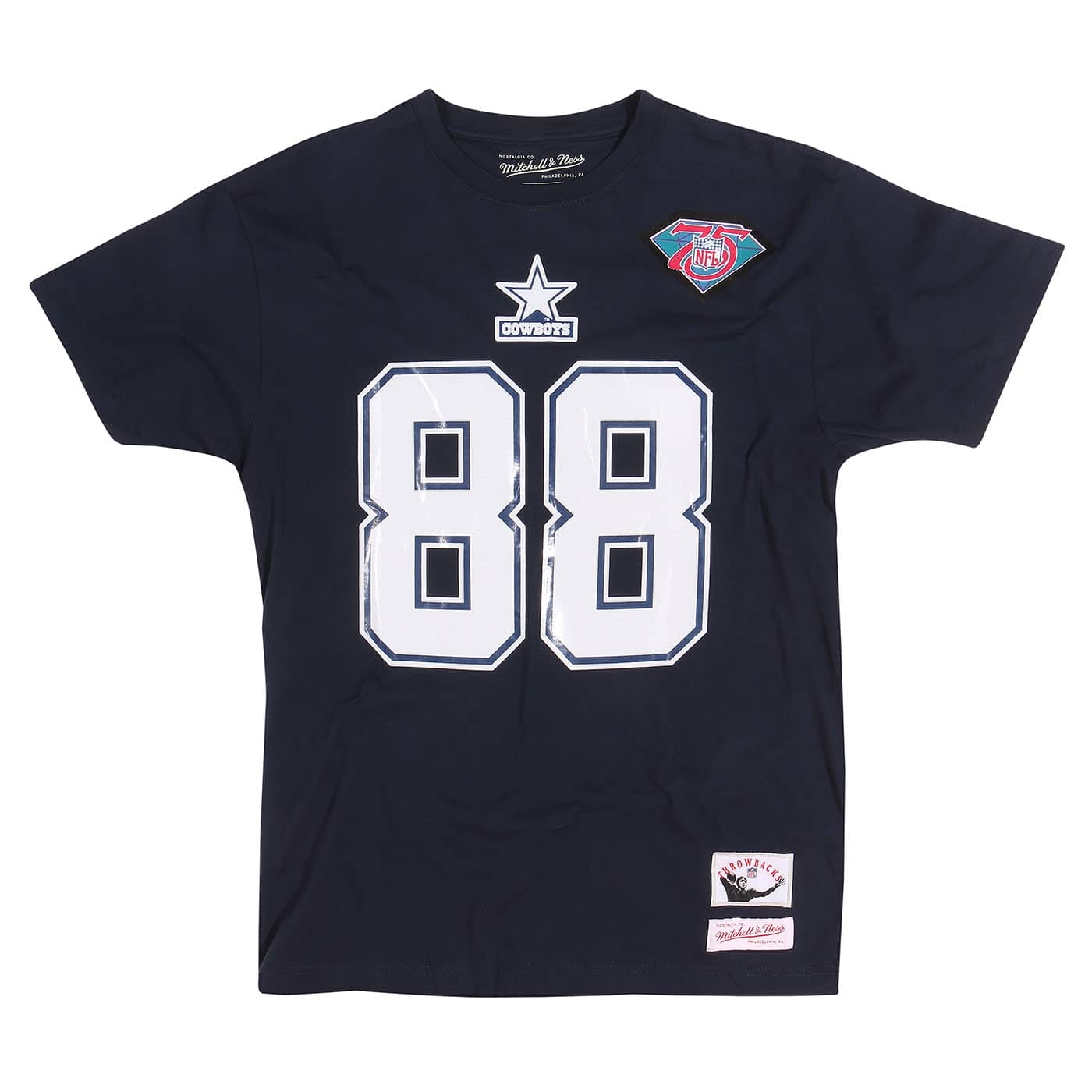 Mitchell   Ness Michael Irvin  88 Dallas Cowboys Throwback NFL T-Shirt Navy   d4786fc7c