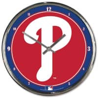 Philadelphia Phillies Chrome MLB Wanduhr