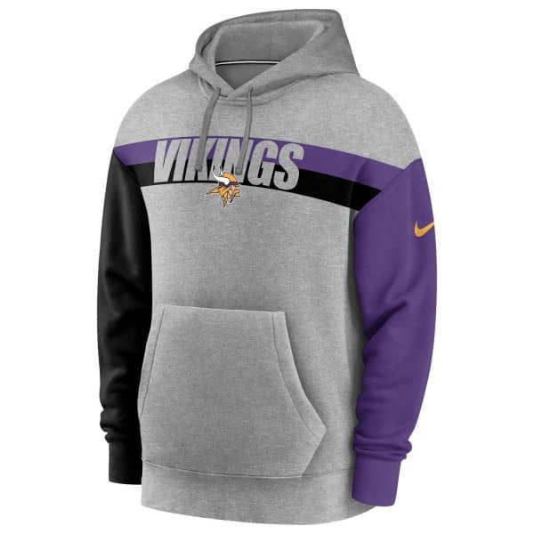 Minnesota Vikings 2020 NFL Wordmark Heritage Nike Tri-Blend Hoodie