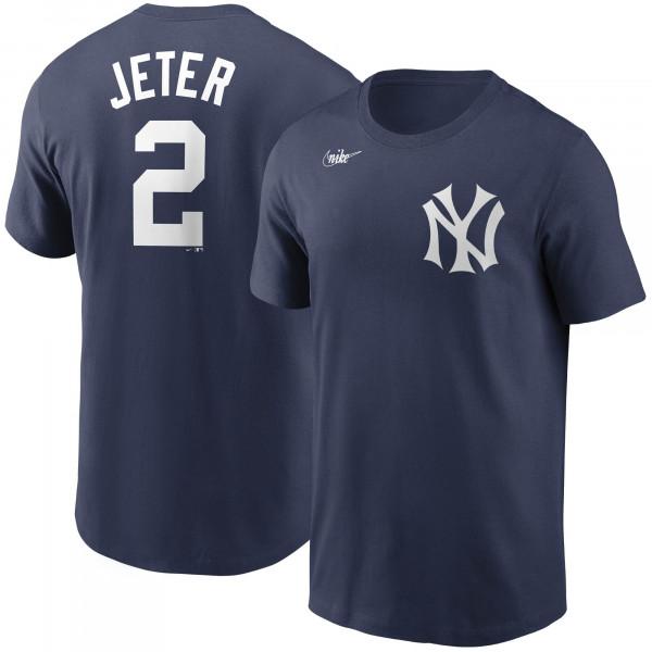 Derek Jeter #2 New York Yankees Nike Cooperstown Player MLB T-Shirt