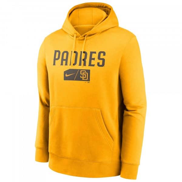 San Diego Padres Lettering Nike Club Fleece MLB Hoodie Gelb