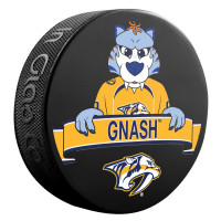 Nashville Predators Gnash Mascot NHL Souvenir Puck