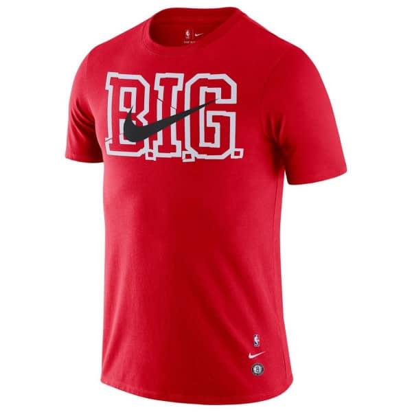Brooklyn Nets B.I.G. Nike Dri-FIT NBA T-Shirt Rot