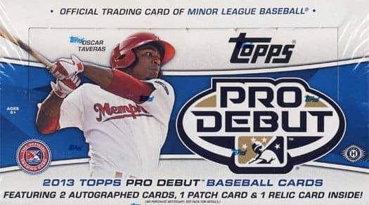 2013 Topps Pro Debut Baseball Hobby Box MLB