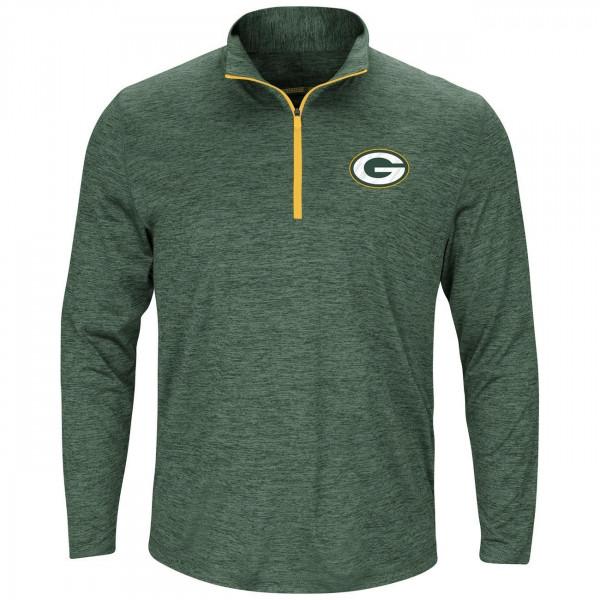 Green Bay Packers Intimidating 1/4 Zip NFL Long Sleeve Shirt Grün
