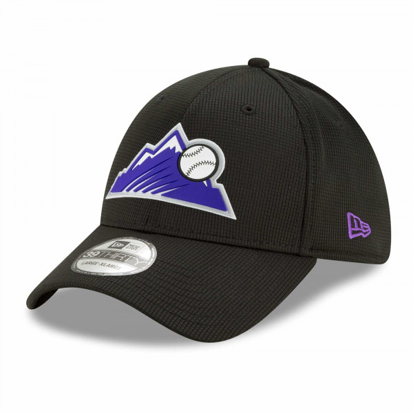 Colorado Rockies 2021 MLB Authentic Clubhouse New Era 39THIRTY Flex Cap