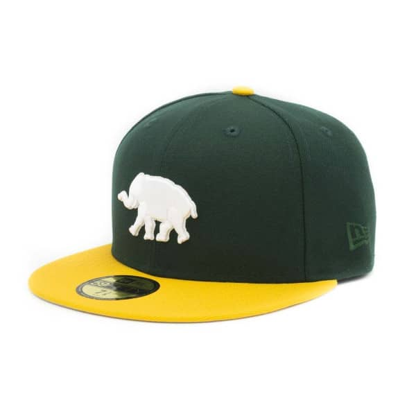 Oakland Athletics Elephant Logo 59FIFTY Fitted MLB Cap