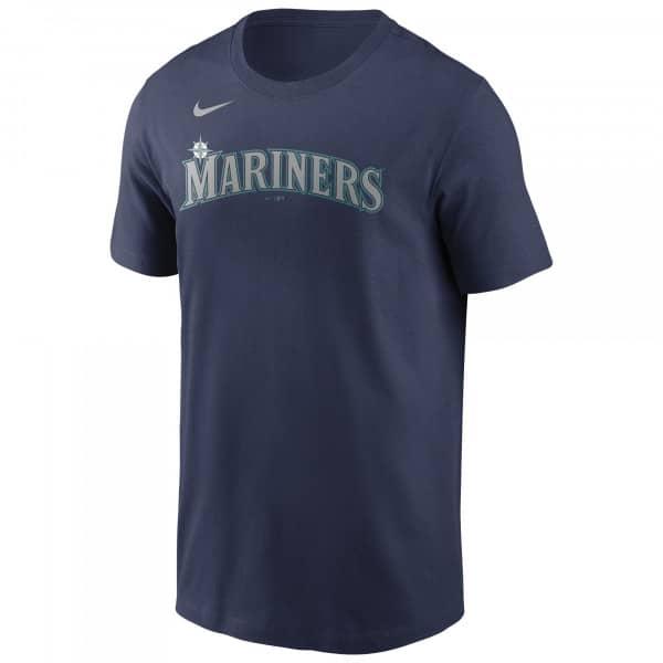 Seattle Mariners Wordmark Nike MLB T-Shirt Navy