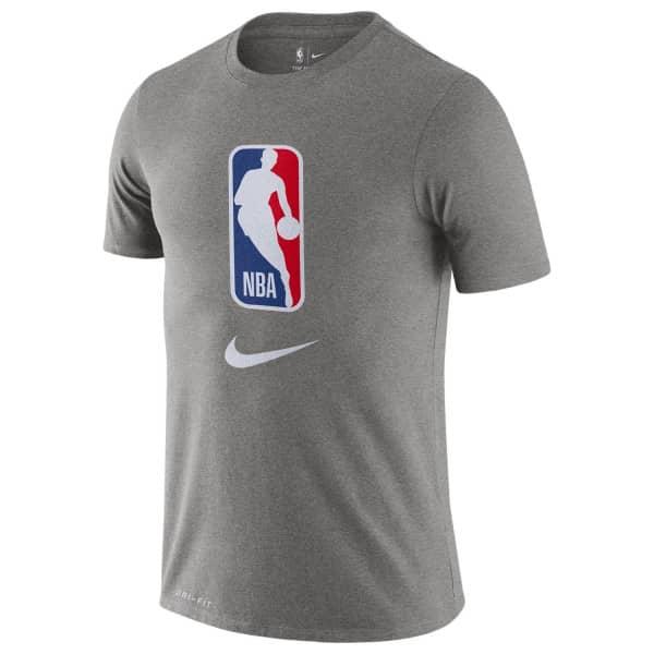 NBA Logoman Nike Dri-Fit Basketball T-Shirt Grau